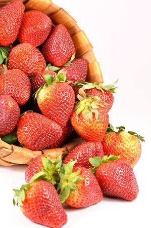 Fresh strawberries full of basket  photo