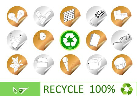 reprocess: Recycling eco icons for your web page