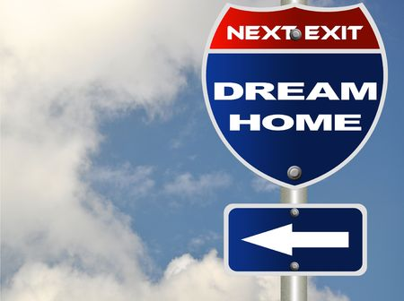 brighter: Dream home road sign