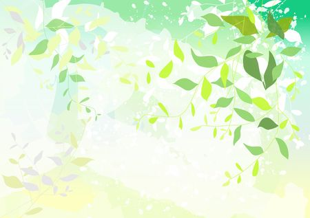 Water color Floral background, vector illustration layered. Stock Illustration - 7080780