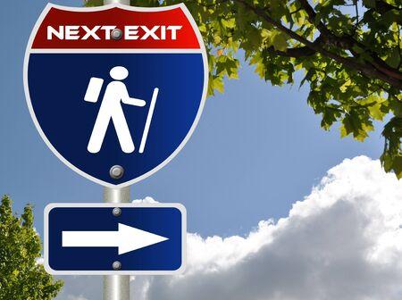 Hiking road sign photo