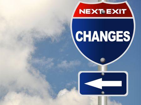optimismo: Signo de la carretera de cambios Foto de archivo