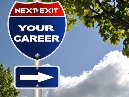 Your career road sign  Stock Photo - 7115564