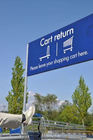 Cart return sign  Stock Photo - 7140272