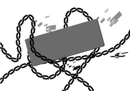 Chain lock with tag