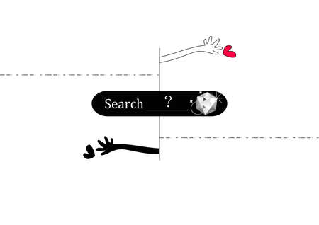 true love: Searching your true love  Stock Photo