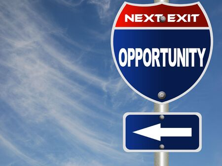 Opportunity road sign Stock Photo - 7353471