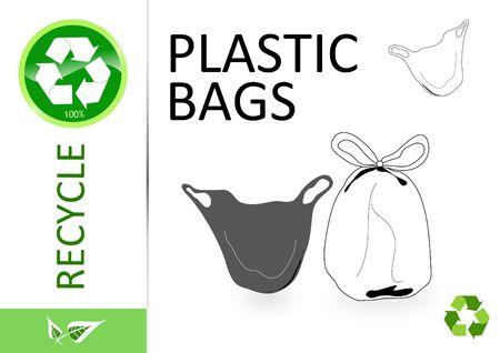 Please recycle plastic bags Stock Photo