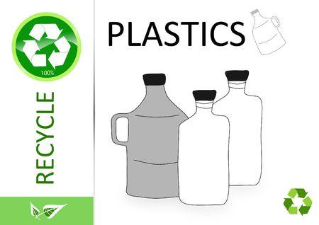 reprocess: Please recycle plastics  Stock Photo