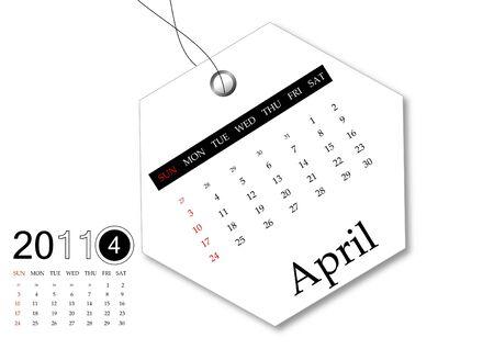 April of 2011 Calendar