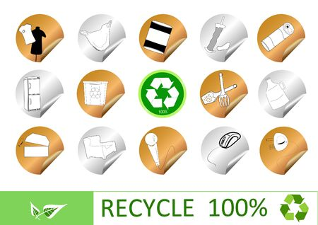 finite: stract recycle sign  Stock Photo