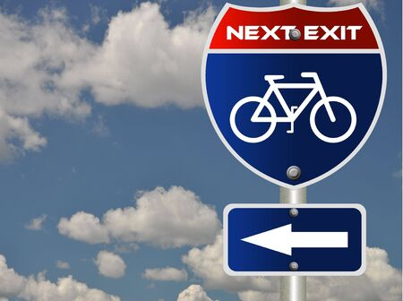 Bicycle road sign  Stock Photo - 7580105