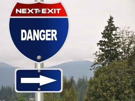 Danger road sign Stock Photo - 7580109
