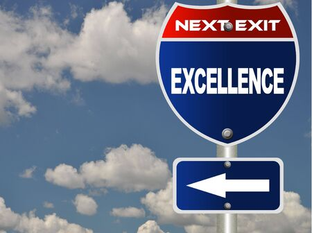 Excellence road sign  Stock Photo - 7580103