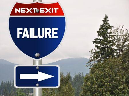 Failure road sign Stock Photo - 7580108
