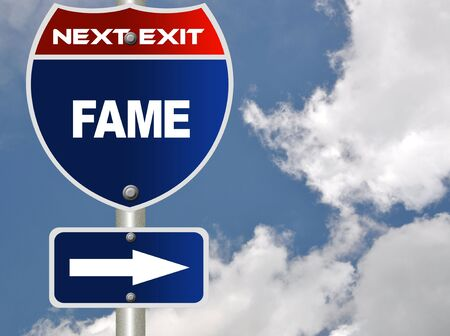 Fame road sign  Stock Photo - 7580102