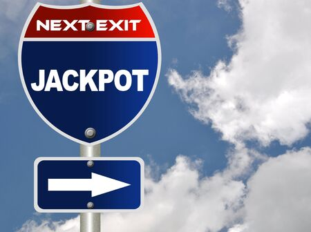Jackpot road sign Stock Photo - 7592704