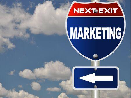 Marketing road sign Stock Photo - 7592706