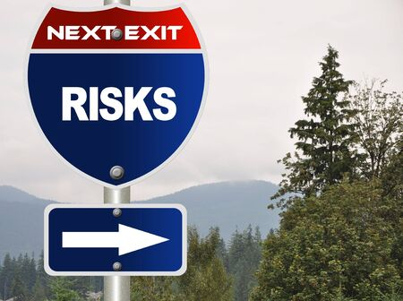 Risks road sign Stock Photo - 7592708