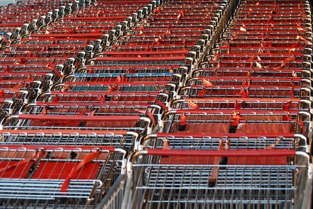 Close up shopping cart