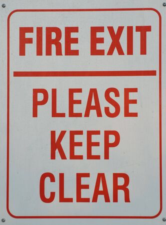 Fire exit sign Stock Photo - 7609005
