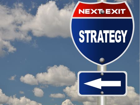 Strategy road sign  Stock Photo - 7609007