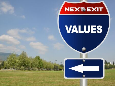 Values road sign  photo