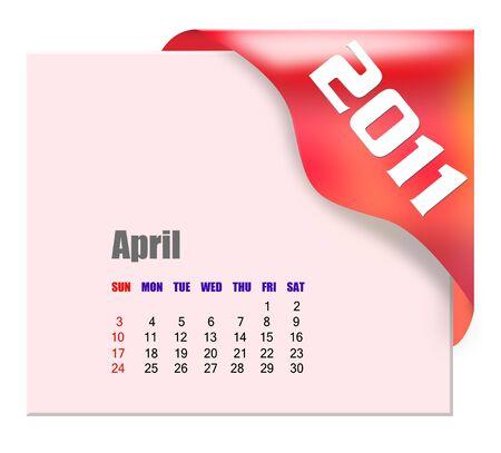 scheduler: April of 2011 calendar
