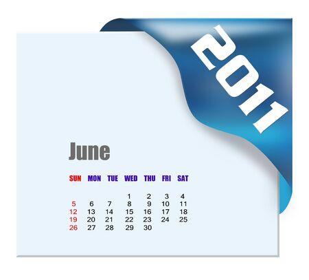 scheduler: June of 2011 calendar