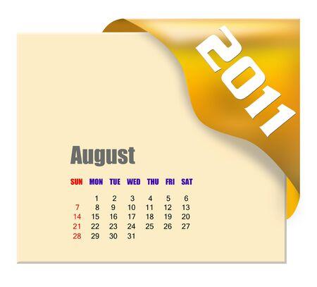 scheduler: August of 2011 calendar