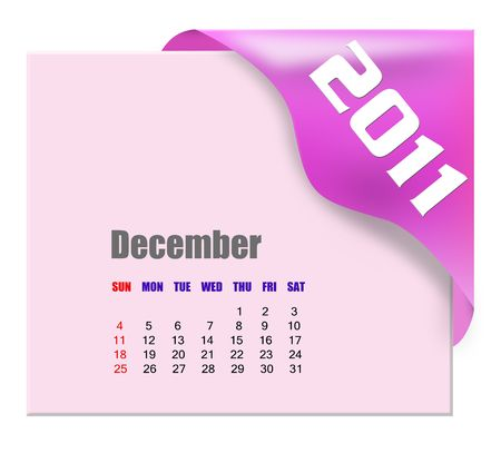 December of 2011 calendar  Stock Photo - 7634305