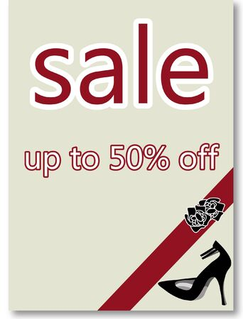 Fifty percent off sale poster  photo