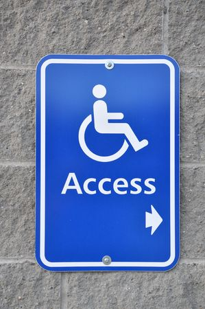Disable access sign on wall Stock Photo - 7653414