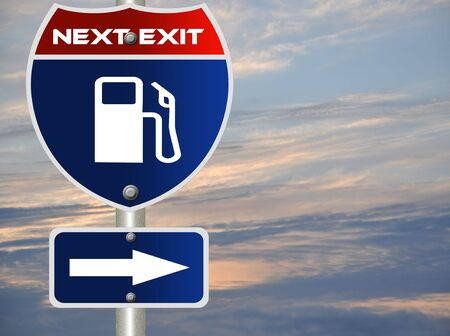 Gas station road sign Stock Photo - 7697510