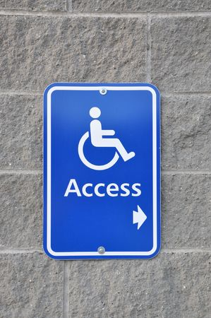 disable: Disable access sign on wall