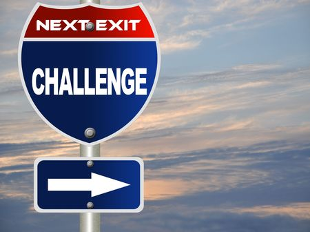 Challenges road sign Stock Photo - 7697522
