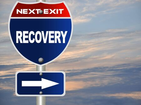 road to recovery: Recovery road sign