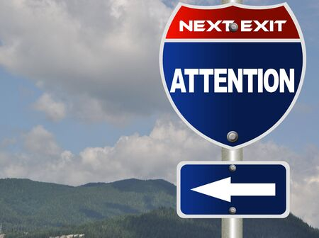 Attention road sign Stock Photo - 7784664