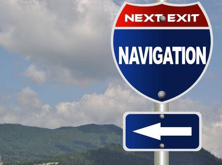 Navigation road sign Stock Photo - 7784666