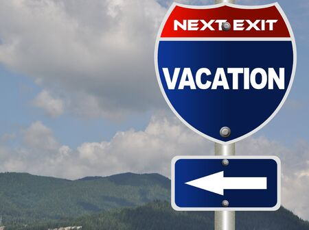 Vacation road sign Stock Photo - 7784665