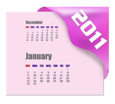 scheduler: January of 2011 calendar