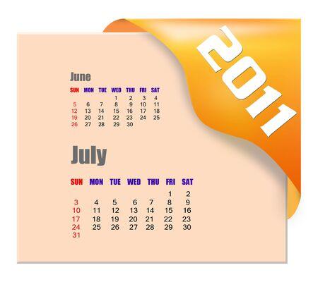 scheduler: July of 2011 calendar