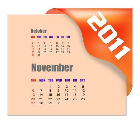 November of 2011 calendar