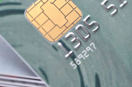Macro Business chip card Stock Photo - 7947450