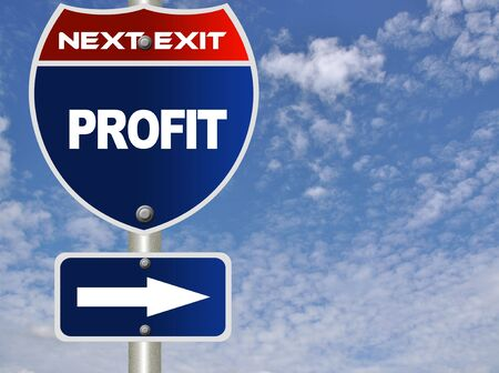 Profit road sign Stock Photo