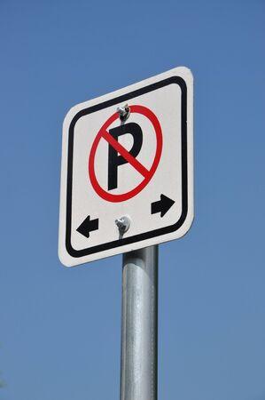 Prohibited parking sign  Stock Photo