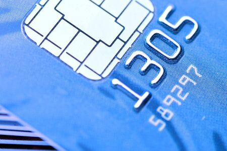 Business chip card with blue tone Stock Photo - 7947470