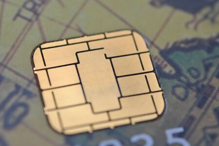 Close-up Business chip card Stock Photo - 7947524