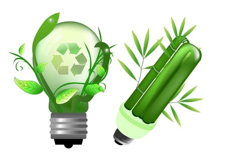 recycling: Abstract bulb for saving energy