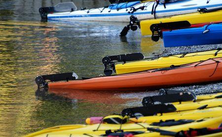 Kayaks on the beach photo